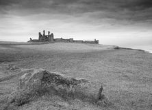 Dunstanburgh Castle from the South stock photo