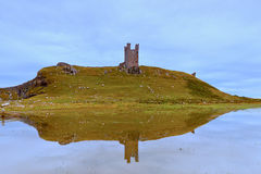 Dunstanburgh Castle Reflection Royalty Free Stock Photography
