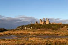 Dunstanburgh Kasztel, Northumberland Zdjęcie Stock