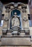 西方dunstan伊丽莎白一世st的雕象 免版税图库摄影