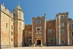 Dunster Castle, Somerset, England. Dunster Castle is a former motte and bailey castle, now a country house, in the village of Dunster, Somerset, England Stock Image