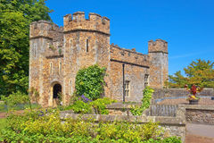 Dunster Castle, Somerset, England. Dunster Castle is a former motte and bailey castle, now a country house, in the village of Dunster, Somerset, England Royalty Free Stock Images