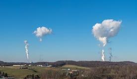 Dunster för punktMorgan kraftverk nära Morgantown arkivfoton