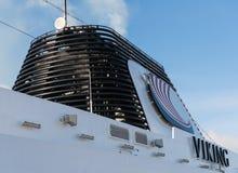 Dunster från tratt på kryssningskeppet Viking Star Royaltyfri Bild