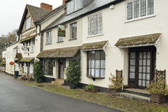 Dunster High Street. Old Buildings in Dunster High Street, Somerset Stock Photography