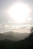 Dunstige Berge Stockbild