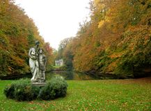 Dunstiger Herbsttag Lizenzfreies Stockbild