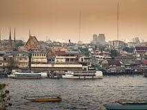 Dunstiges Bangkok Stockbild