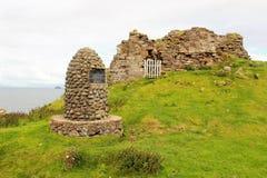 Duntulm城堡,斯凯岛,苏格兰小岛  库存照片
