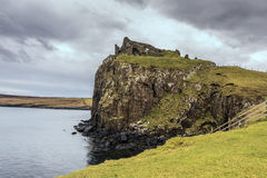 Duntulm Castle on cliff Stock Image