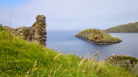 Duntulm Castle ruins Royalty Free Stock Photo