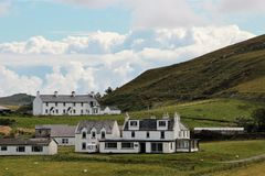 Duntulm slott, ö av Skye, Skottland Royaltyfri Foto