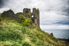 Dunure城堡 库存照片