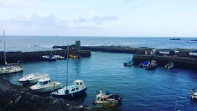 Dunure-Hafen lizenzfreies stockfoto