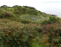 Dunure Labyrinth stock images