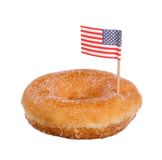 Dunut with american flag Stock Photography