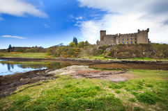 Dunvegan城堡,斯凯岛小岛  库存图片