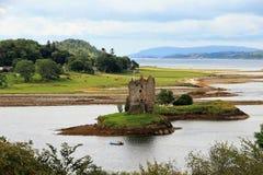 Dunvegan城堡,斯凯岛,苏格兰小岛  免版税库存图片