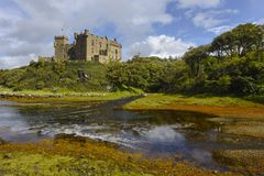 Dunvegan castle on the Isle of Skye, Highlands, Scotland, United Kingdom royalty free stock photo