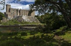 Dunvegan kasztel na wyspie Skye - siedzenie MacLeod MacLeod, Szkocja, Zjednoczone Królestwo Obrazy Royalty Free