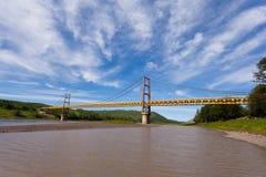Dunvegan pokoju rzeki most Alberta Kanada obraz stock