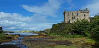 Dunvegan slott på ön av Skye Arkivbild