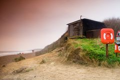 Dunwich. Beach East Anglia in winter Stock Image