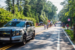 Dunwoody Police in Parade Stock Image