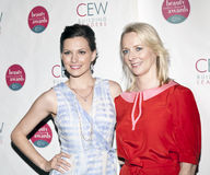 Duo. NEW YORK, NY - MAY 20: (L-R)Actress Jill Flint and Editor In Chief of Allure Magazine Linda Wells attend the 2011 Cosmetic Executive Women Beauty Awards at royalty free stock photography