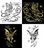 Duo butterflies vector Stock Images