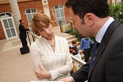 Duo da discussão do negócio foto de stock