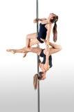 Duo de danse de Polonais Photographie stock