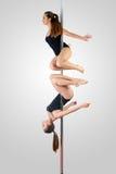 Duo de danse de Polonais Images libres de droits