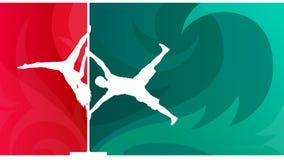 Duo de danse de Polonais illustration stock