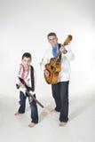 Duo de père et de fils Images libres de droits