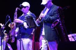 duo de saxophone Photos libres de droits