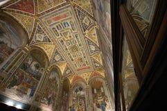 Duo de Siena da biblioteca de Piccolomini Fotos de Stock Royalty Free