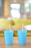 Duo de verre bleu Images libres de droits