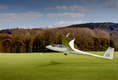 Duo Discus Glider taking off on winch launch Stock Image