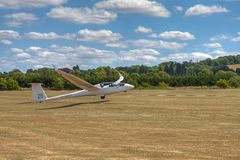 Duo Discus Glider Winch Launch Royalty Free Stock Photography