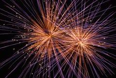 duo fireworks Arkivfoto