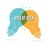 Duo-Glühlampe der großartigen Idee Lizenzfreie Stockfotografie