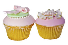 Two cupcakes. Stock Images