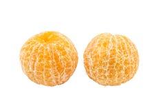 Duo peel orange isolated white background Stock Photography