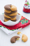Duo tone Donut Cookies for New Years Day Royalty Free Stock Photography