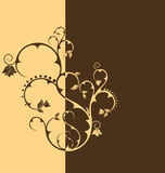 Duo tone floral wallpaper. Duo coffee tone floral wallpaper Royalty Free Stock Image