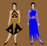Duo vector. Two different models of clothes vector Royalty Free Stock Photo