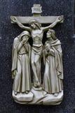 Duodécima estação através de Dolorosa, o Crucification fotografia de stock royalty free
