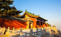 Duofu temple scene Stock Image