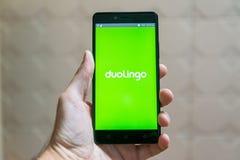 Duolingo Fotografie Stock Libere da Diritti